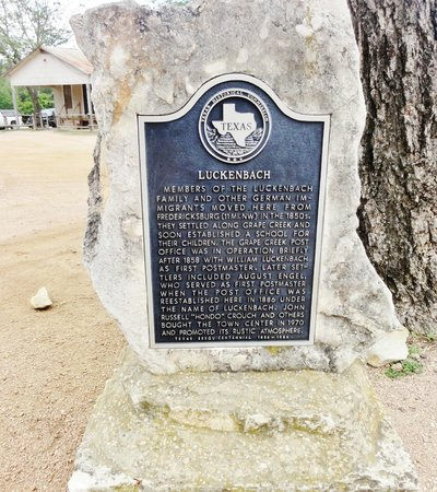 Luckenbach Texas General Store: Historical Marker at Luchenback, Texas