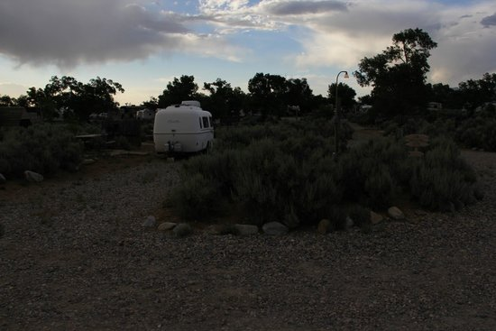 Taos Valley RV Park and Campground: The typical site - close quarters and overgrown sites