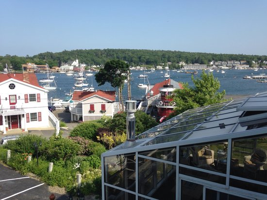 Greenleaf Inn at Boothbay Harbor: View from room 7 balcony