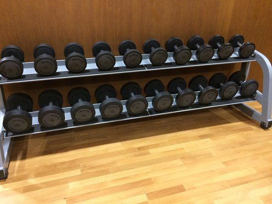 Relais Spa Paris-Roissy CDG : The dumbbell rack, they go up to 24kg