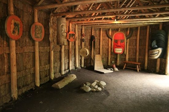 Site Traditionnel Huron : medicine man houses