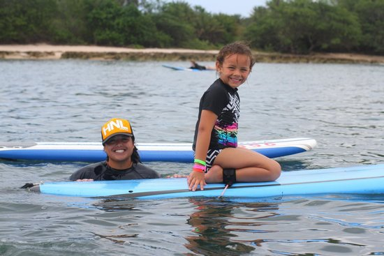 North Shore Surf Girls - Surf School: Jordyn and her surf instructor