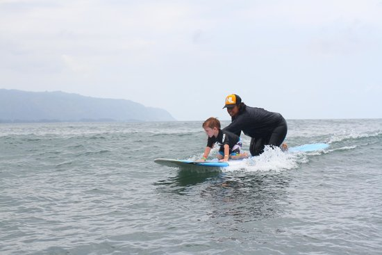 North Shore Surf Girls - Surf School: My 4yr old son with surf instructor