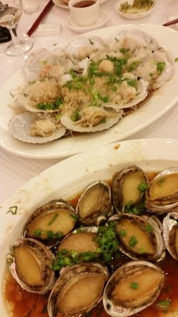 Star Seafood Restaurant: Steamed scallops and steamed abalone