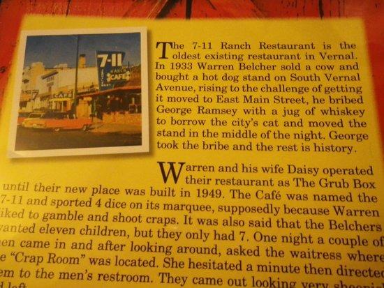 7-11 Ranch Restaurant: A little history
