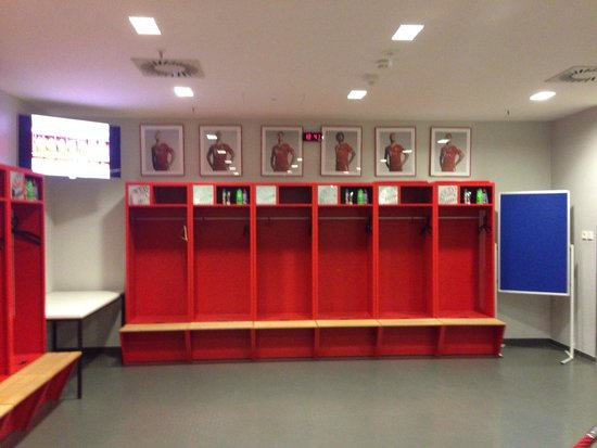 Allianz Arena: Bayern Munich Changing room