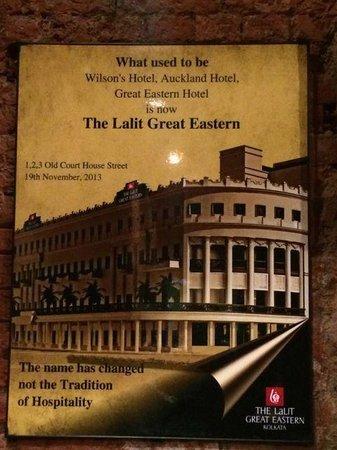 The Lalit Great Eastern Kolkata: old pic