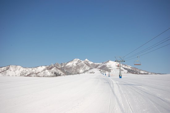 Ski slope in the morning