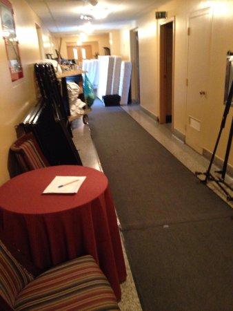 The YWCA Banff Hotel: Loud Work at 8am