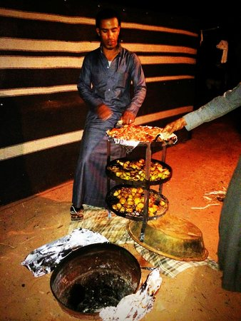 Bedouin Lifestyle Camp: A delicious dinner cooked Bedouin style in the ground!