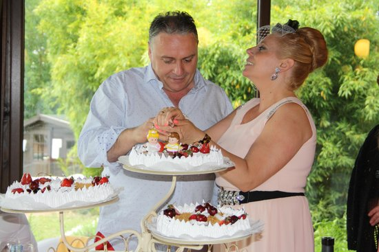 Casa Grande de Fuentemayor: tarta banquete bodas 25 años