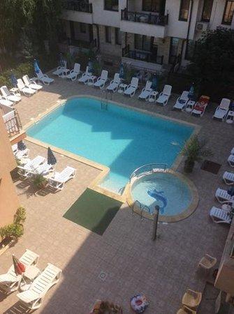 Tabanov Beach Hotel : Вид с балкона отеля