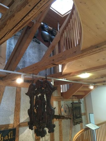 Museum Appenzell: Rafters and cowbells