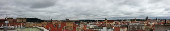 Design Metropol Hotel Prague: View from a terrace /rooftop/