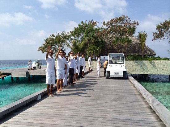W Maldives: Arrival greeting