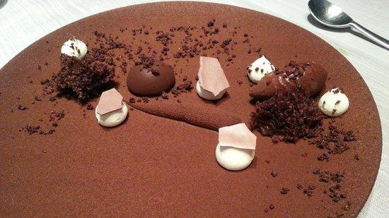 Chapeau Rouge Restaurant William Frachot : tout chocolat