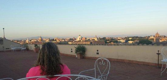 VOI Donna Camilla Savelli Hotel: Roof terrace sunset