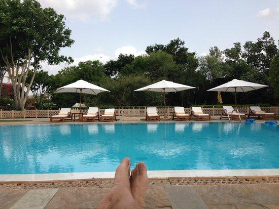 Trident Udaipur: @ pool