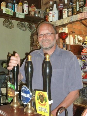 The Mitre Inn: Allen, the landlord - always happy to serve you a pint!