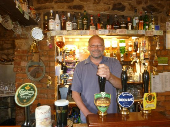 The Mitre Inn: Allen the landlord is always happy to pull a pint