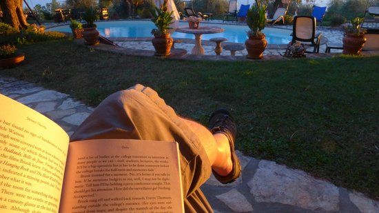 Isole e Tramonti : Reading by the pool early evening