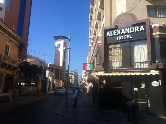 Alexandra Hotel Malta: The corner logo