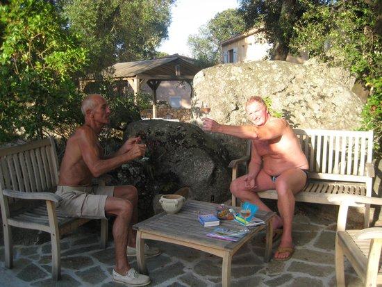 A Quercetta: first evening with Alain