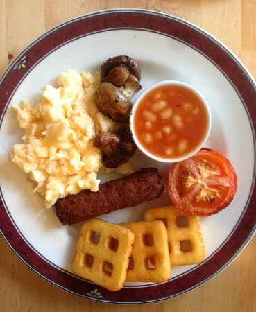 Garfield Guest House : Vegetarian breakfast