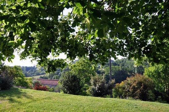 La Colline d'Orance Bed and Breakfast: vue du jardin autours de la maison d'hôtes