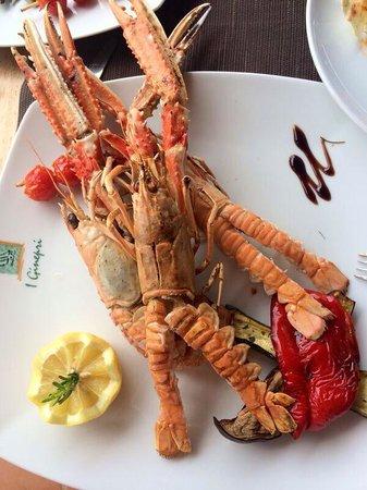 Lunch at i Ginepri beach restaurant