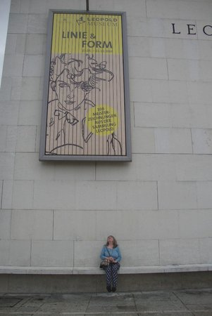 Outside the Leopold Museum