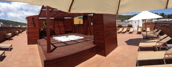 Hotel Delfin: Lækker tagterasse