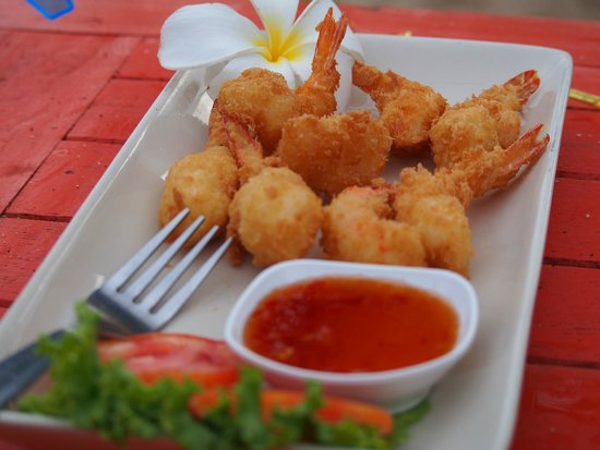 Coco Lanta Resort: Shrimp tempura