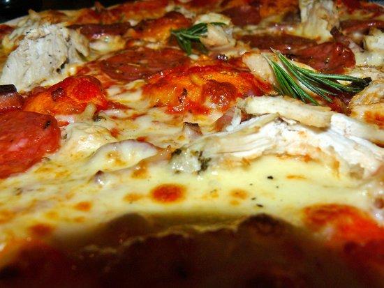 Prezzo - St Martins Lane: Close up of my Tre Gusti Classic Pizza