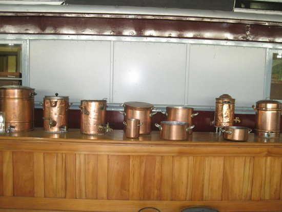 Outeniqua Transport Museum: copper ware used in days gone by