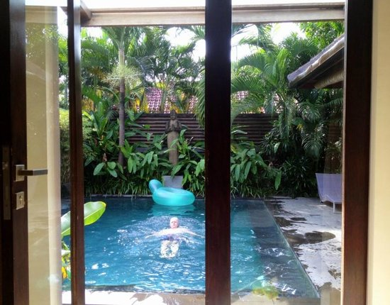The Ahimsa Estate: Pool view from master bedroom 3 bed Villa