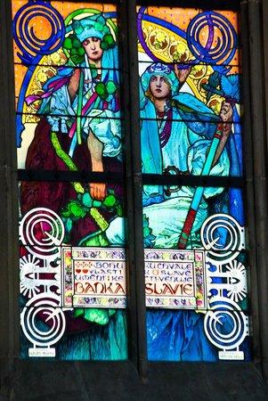 Veitsdom (Chram svatého Víta): Витражи