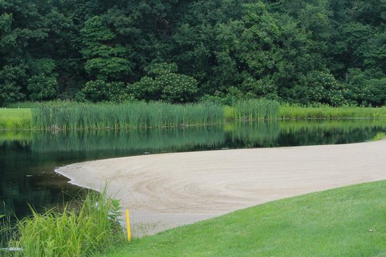 Gull Lake View Golf Club and Resort Fairway Villas : The beach sandtrap at Stonehedge