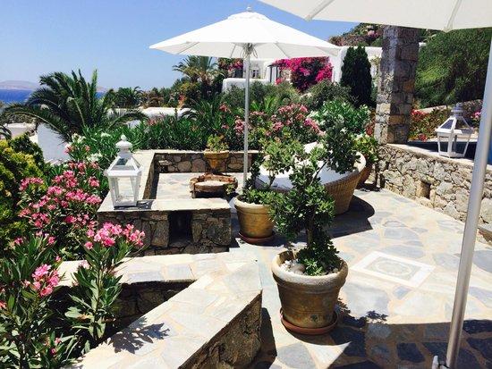 Apollonia Hotel & Resort: Terasse auf der Rückseite