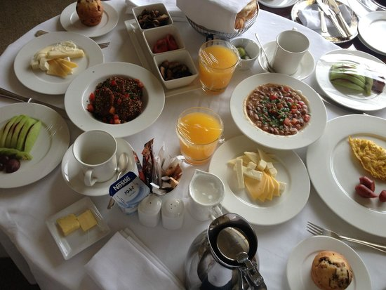 Grand Nile Tower: This is our royal wedding breakfast as you see