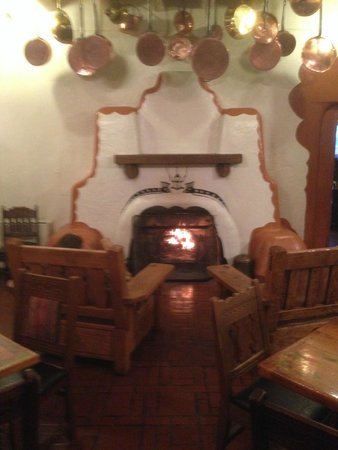 La Fonda on the Plaza: One of the seating rooms near reception and restaurant