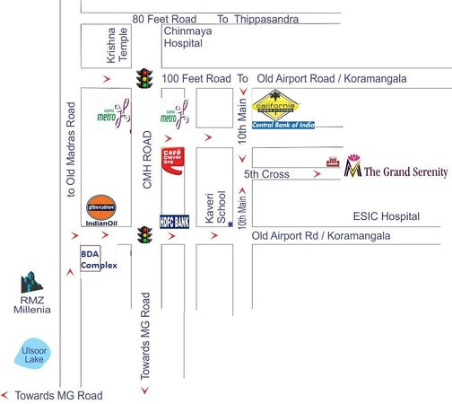 The Grand Serenity - Apartment Hotel: Route map