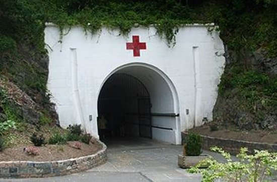 St. Lawrence, UK: The entrance to Jersey War Tunnels which used to be a hospital