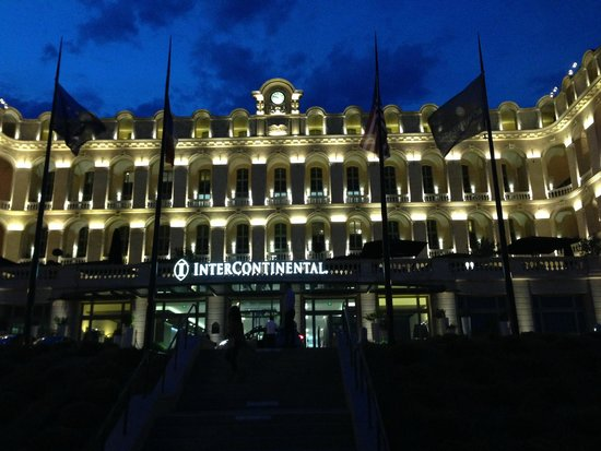 InterContinental Marseille - Hotel Dieu: Photo of the front area of the hotel at night.