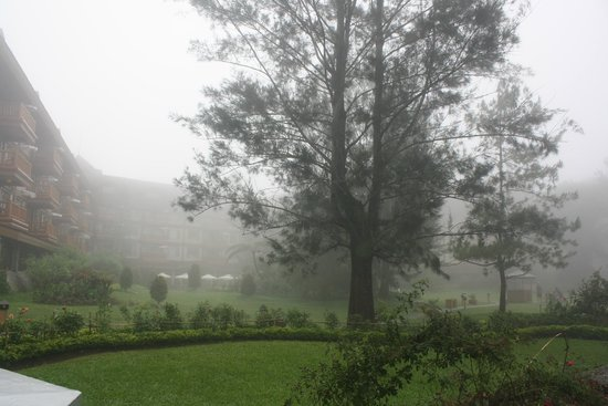 The Manor at Camp John Hay: foggy