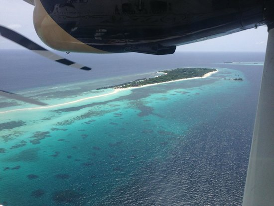 Kuredu Island Resort & Spa : View of island from seaplane