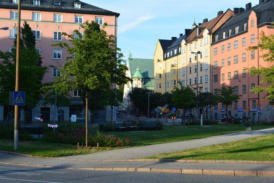 Elite Palace Hotel Stockholm: по пути к отелю