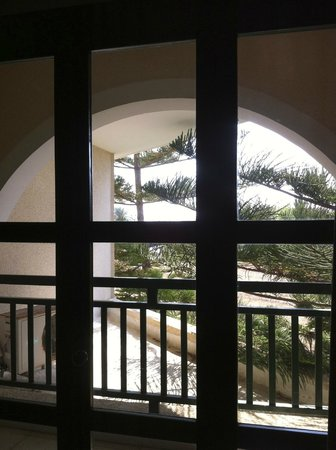 Pandream Hotel Apartments: балкон и сосны рядом с ним, вид из номера