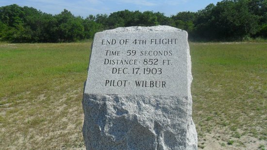 Wright Brothers National Memorial: 4th flight marker