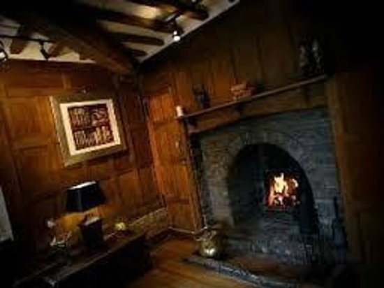 The Falcon Hotel: Log Fire